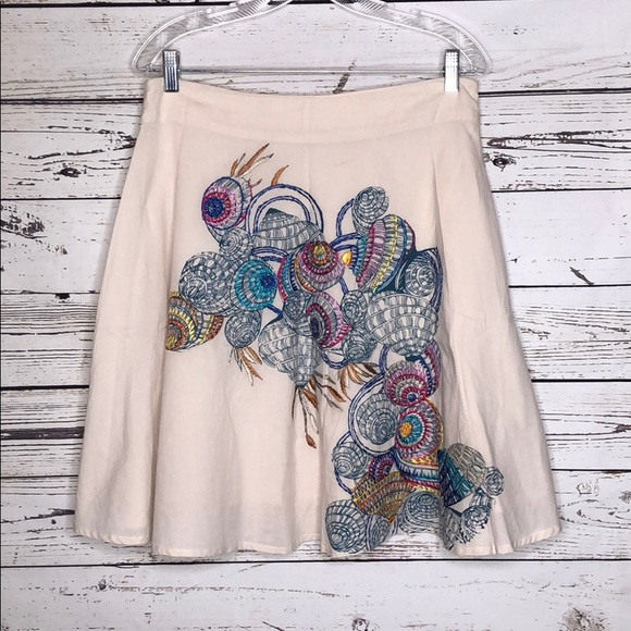 Lavand Dresses & Skirts - Lavand NWT XL Embroidered Print A-Line Skirt